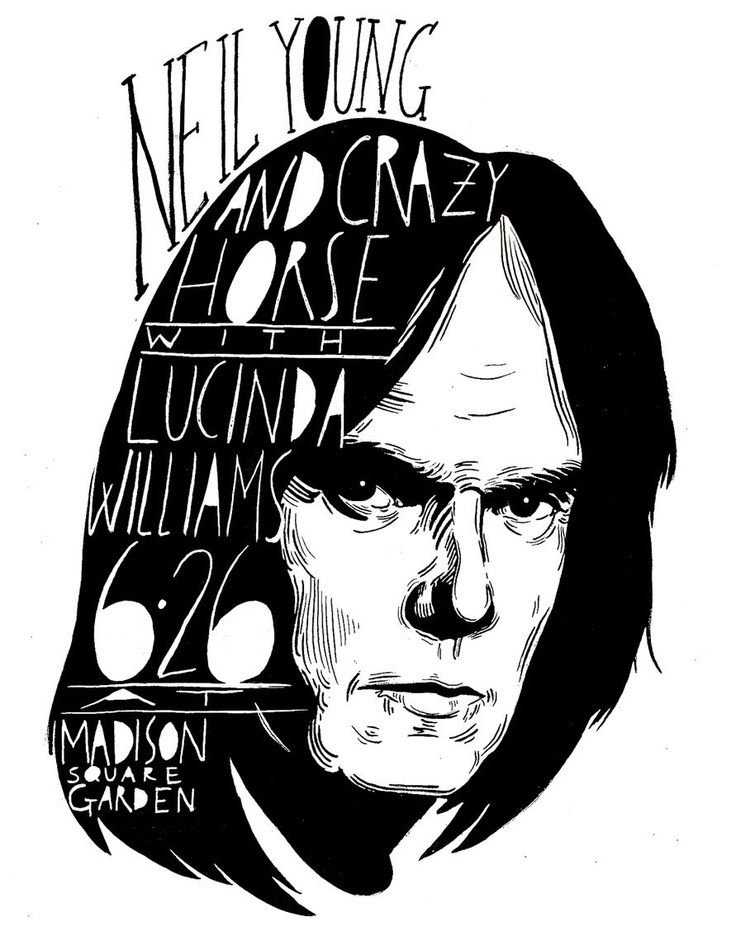 Neil Young Gig Poster