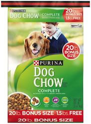 PURINA DOG CHOW DRY DOG FOOD 20 1b BONUS BAG ALA $3.54 (VALUE $11.99) AT TARGET 10/18-10/24! - http://wp.me/p56Eop-Gtx