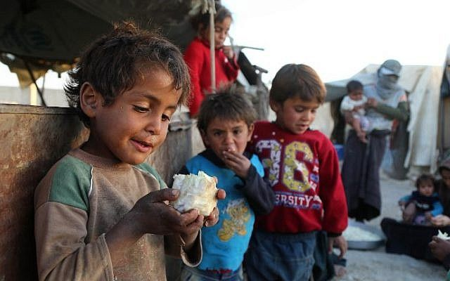 10/27/17 UN 'shocked' by images of 'deliberately starved' Syrian children  UN human rights chief says starving civilians as a method of warfare is a clear violation of international law