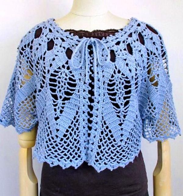 Crochet Cape Sweater For Women - Lace Cape