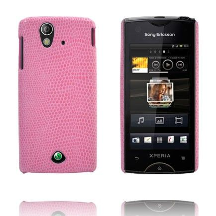 Croco (Vaaleanpunainen) Sony Ericsson Xperia Ray Suojakuori