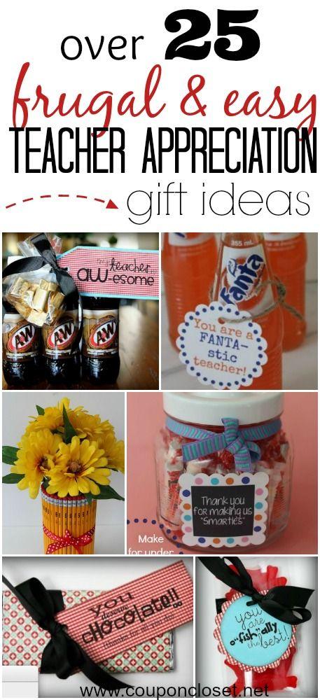 Classroom Thank You Ideas ~ Over different frugal teacher appreciation gift ideas