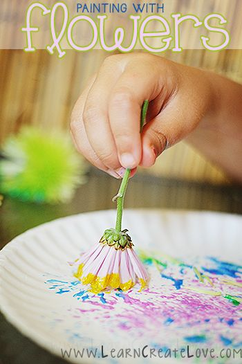 Make A Beautiful Simple And Elegant Summer Craft With Your Kids Using Own Backyard Painting Flowers Will Keep Creative Juices