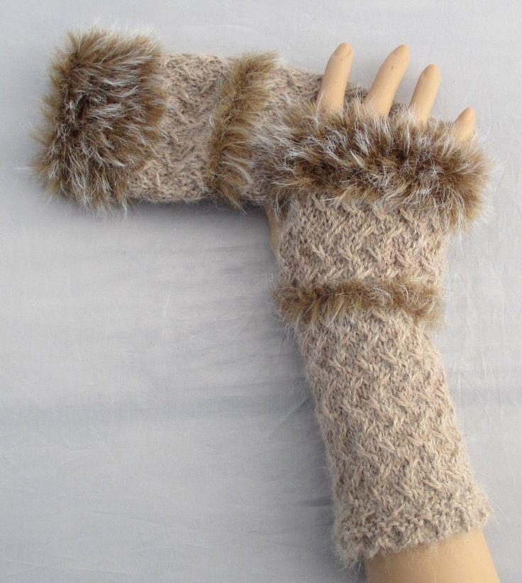 KIT à tricoter mitaines fourrure de la boutique Sylviecambet sur Etsy