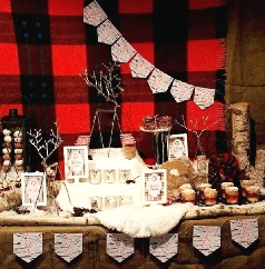 Cabin Log Holiday Winter Birch Christmas Winter Party Ideas