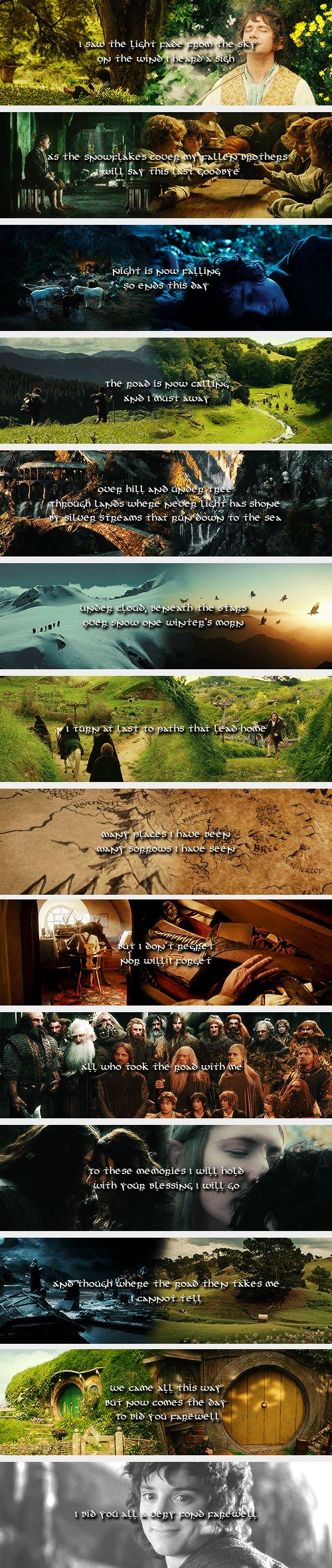 (gif set) ♪I bid you all a very fond farewell♪     The Lord of the Rings and The Hobbit [The Last Goodbye - Billy Boyd]