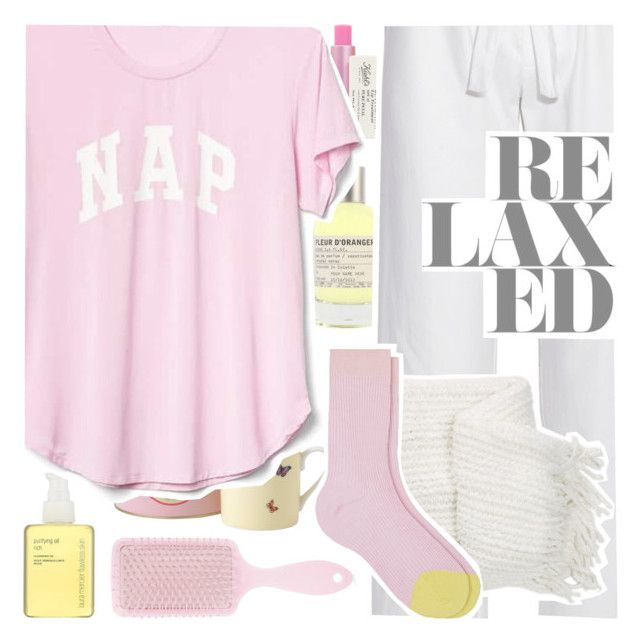 """""""PJs All Day"""" by deepwinter ❤ liked on Polyvore featuring Forever 21, Kiehl's, Le Labo, Royal Doulton, Laura Mercier, Gap, Bodas, Nordstrom Rack, Maria La Rosa and LovelyLoungewear"""