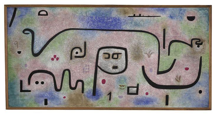 "Paul Klee, ""Insula dulcamara"" (1938), oil on paper on hessian canvas (courtesy Zentrum Paul Klee, Bern)"