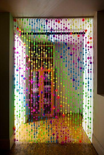 cortina de tapitas