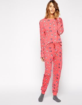 Chelsea Peers Penguin Christmas Loungewear Set