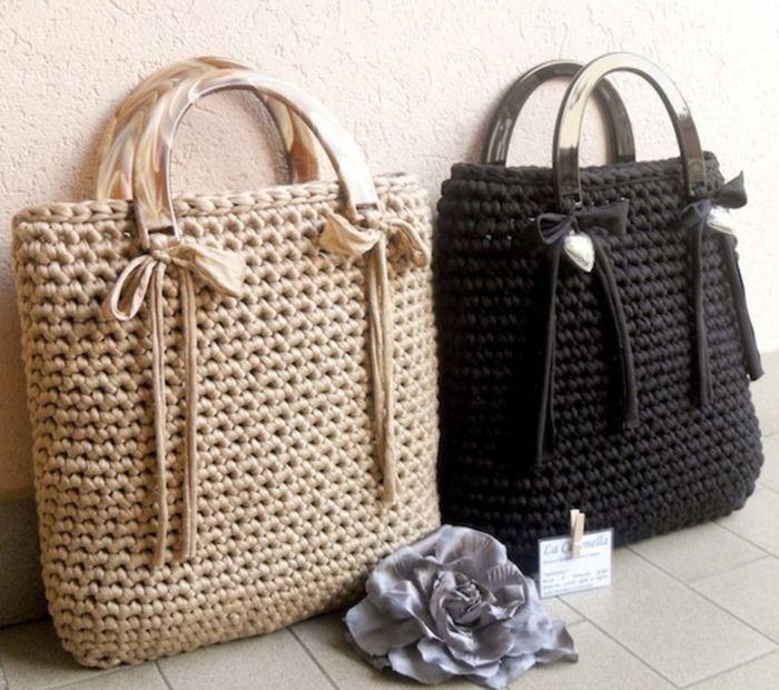 Вязаные крючком сумки белые. Осенние вязаные сумки | 3vision - Fashion blog
