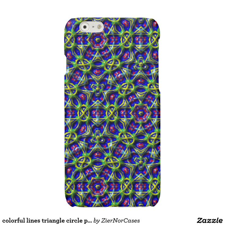 colorful lines triangle circle pattern glossy iPhone 6 case