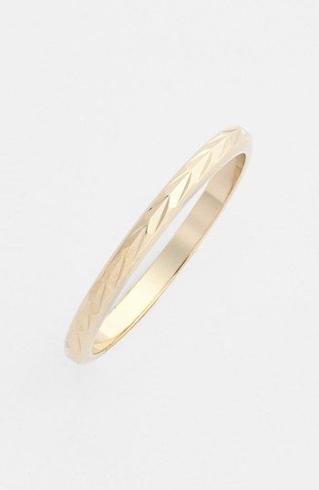I want two in gold!  Rachel Etched Midi Ring (Juniors) available at #Nordstrom