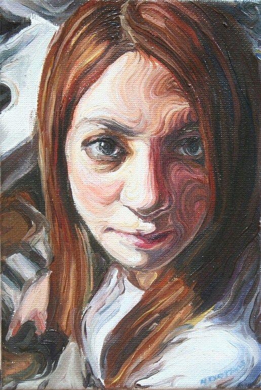 """Saatchi Online Artist: Nikos Gyftakis; Oil, Painting """"Zoe"""""""