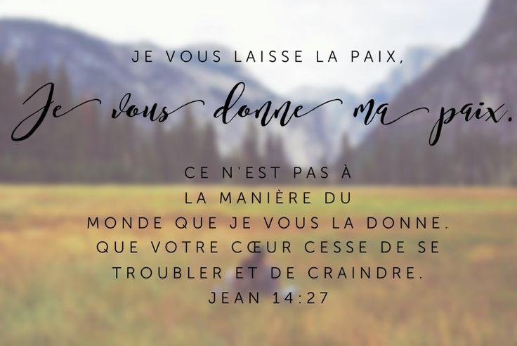 JEAN 14v27  Nouveau Testament: Evangile de saint Jean