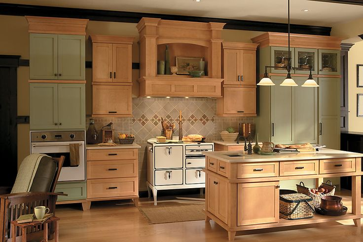 Cashew Kitchen Cabinets