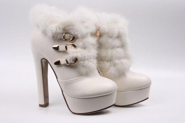 кружево с мехом | Зимняя свадебная обувь: как выбрать ...