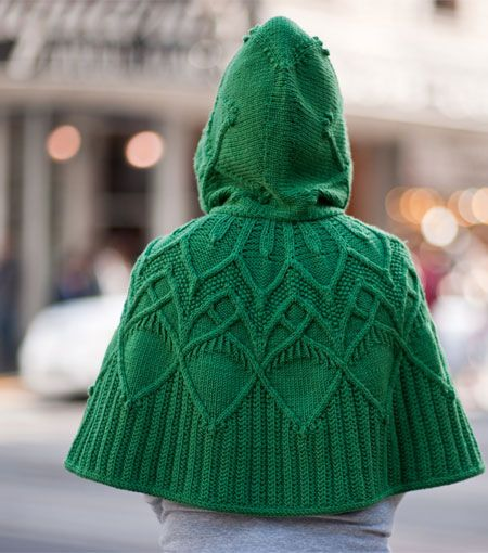 beautiful cape! love the cabling that looks like acorns to me! $ 7 pattern