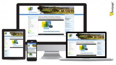 Gemeinde Hunzenschwil, Flexipage, Responsive Webdesign, Internetauftritt