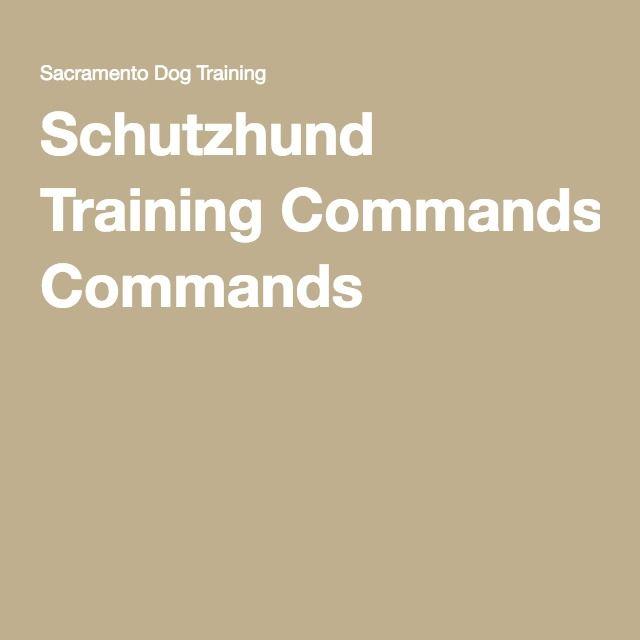 Schutzhund Training Commands