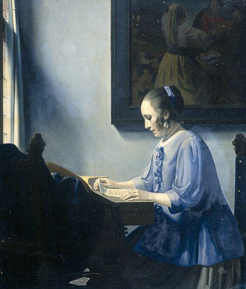 Woman Reading Music (1935-40). Han van Meegeren (Dutch, 1889-1947). Rijksmuseum.