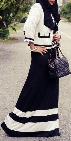 Black-White #Hijab Style