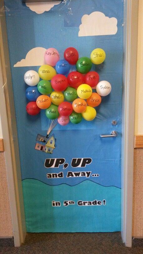 Door Board Ups : Back to school door or bulletin board up and away in