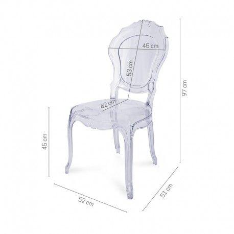 Tron przezroczyste krzesło transparentne thron bezbarwne nowoczesne krzesła do jadalni do domu na taras.