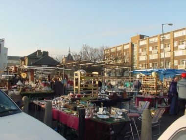 Bermondsey Market (London, England) - former site of Bermondsey Abbey
