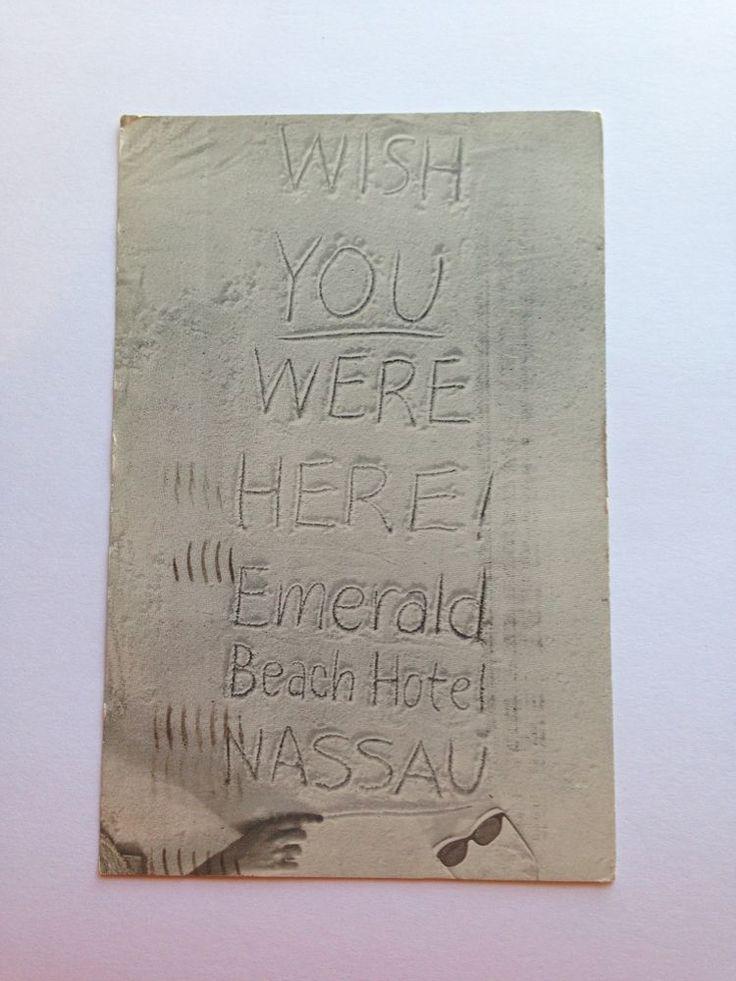 Vintage Emerald Beach Hotel Nassau Bahamas Postcard Posted 1960