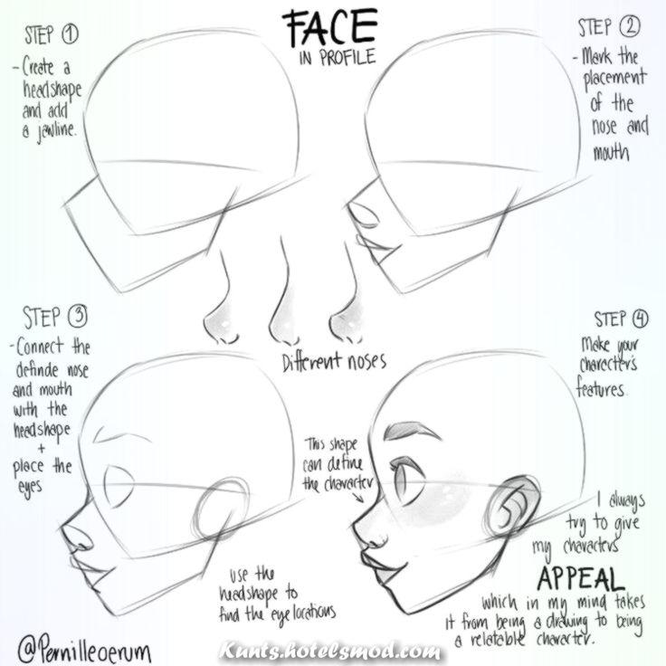 Außergewöhnlich Wie zeichnet man ein Gesicht von vorne.