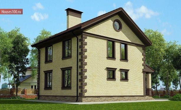 Проект домов из кирпича двухэтажные фото