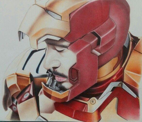 아이언맨(로버트 다우니 주니어) 볼펜화 Iron Man  ballpoint pen art!