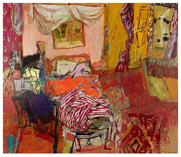 The Green Mango B and B by Elisabeth Cummings. oil on canvas 2006