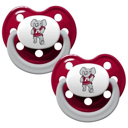 "Soothe your little fan with officially licensed pacifiers. These orthodontic pacifiers feature a silicone nipple with a plastic shield and grasping hook. The team logo is adorned on the ""button"" with team colors decorating the shield. All items have been quality and safety tested to be 100% BPA and Phthalate free. Set of 2."