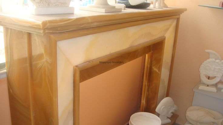 Fireplaces Indian Onyx. Contact: sales@marmara.gr