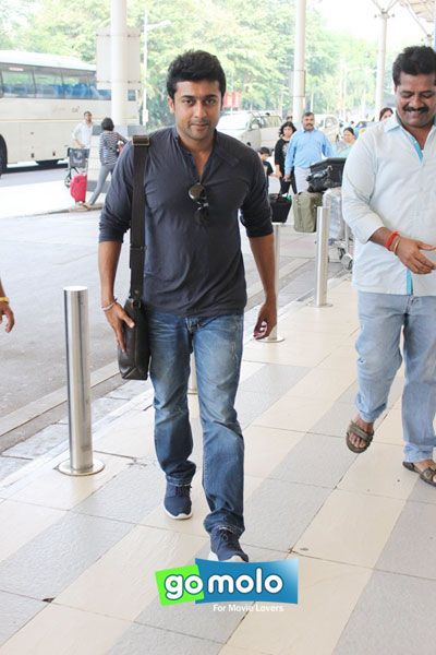 Surya Sivakumar snapped at Mumbai Domestic Airport