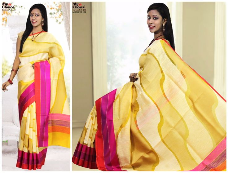 Chanderi Plain Design Saree