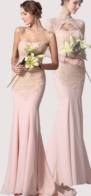 Lace Bolero Two Pieces Evening Dress Formal Gown #eDressit