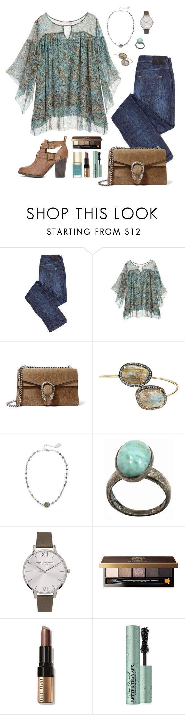 """Ashlyn"" by michela68 ❤ liked on Polyvore featuring Calypso St. Barth, Gucci, ela rae, De Buman, Olivia Burton, Bobbi Brown Cosmetics, Too Faced Cosmetics and Dolce&Gabbana"