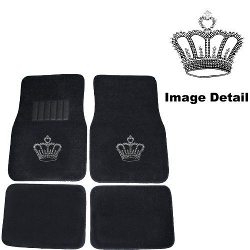 Crown Gem Crystal Studded Rhinestone Car Truck SUV Front & Rear Seat Carpet Floor Mats - 4PC LA Auto Gear,http://www.amazon.com/dp/B001AV9P36/ref=cm_sw_r_pi_dp_KBmjtb1G6HG5M9EZ