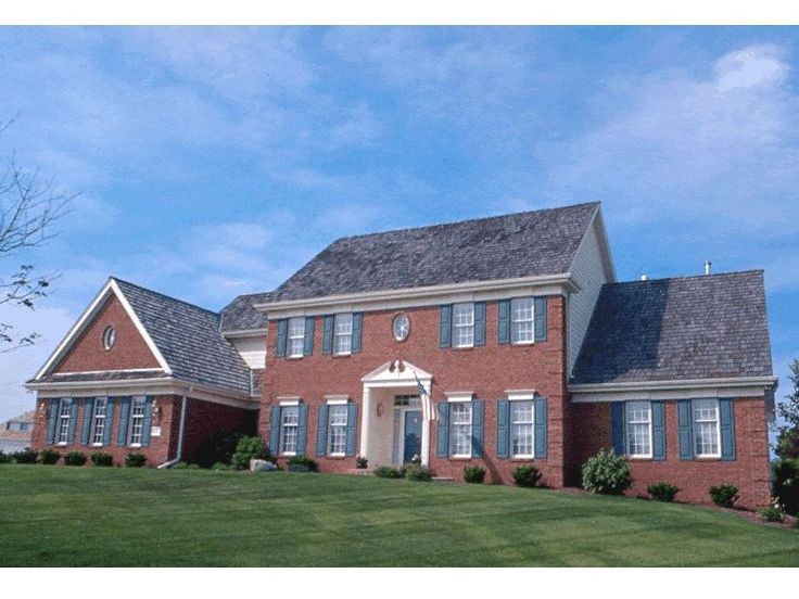 Best Colonial House Plans Images On Pinterest Colonial - Colonial cape cod style house plans