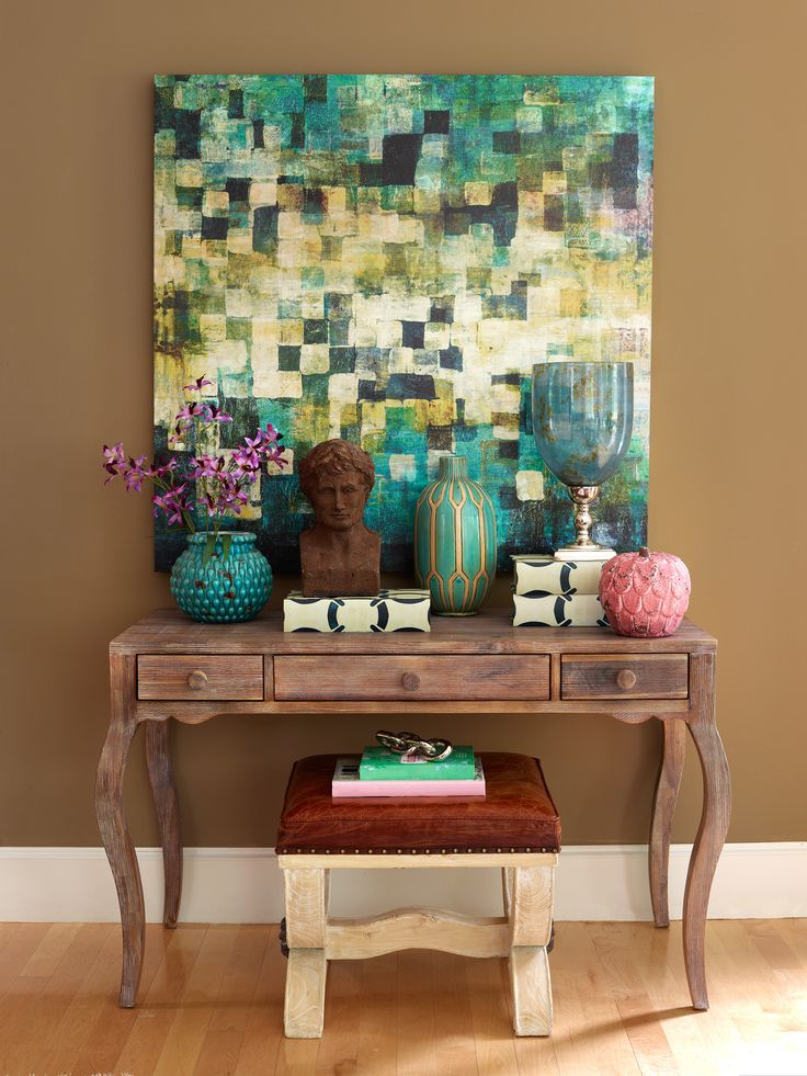 From Homegoods Even The Littlest Space Can Make A Big Impact Homegoodshappy Decor Console