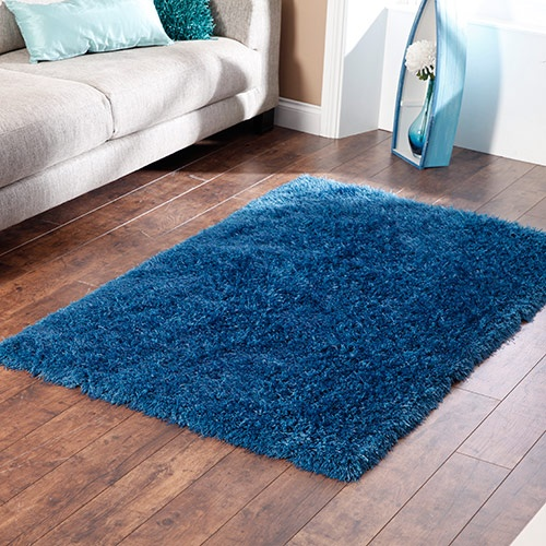 monte carlo striking shaggy blue rug made with pile