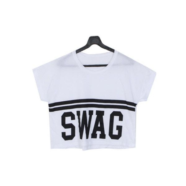 T-shirt - Swag ($55) found on Polyvore