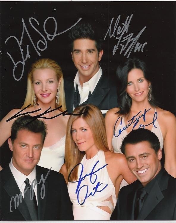 Friends Cast Signed 8x10 Autograph Photo - Jennifer Aniston, Lisa Kudrow, Courteney Cox, David Schwimmer, Matthew Perry and Matt LeBlanc - Certificate of Authenticity Included - Authentic Hand-Signed Autographs - $199 -  #gifts #celebrity #shopping