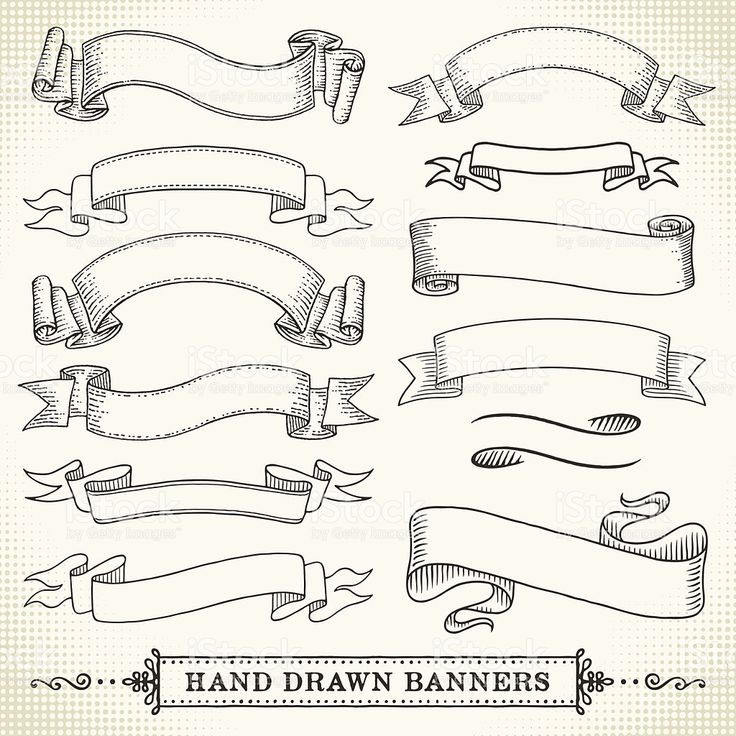 Hand Drawn Banners royalty-free stock vector art