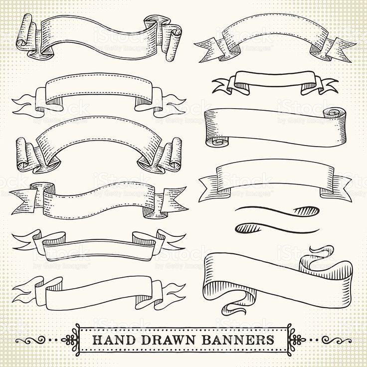 Hand Drawn Banner Lizenzfreies vektor illustration