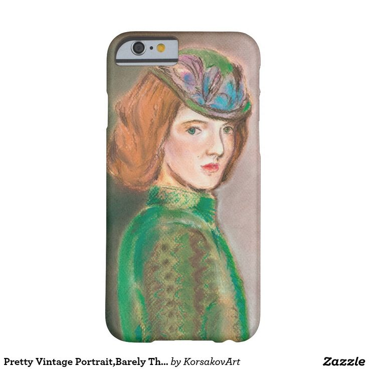 #Pretty #Vintage #Portrait,Barely There #iPhone 6 #Case