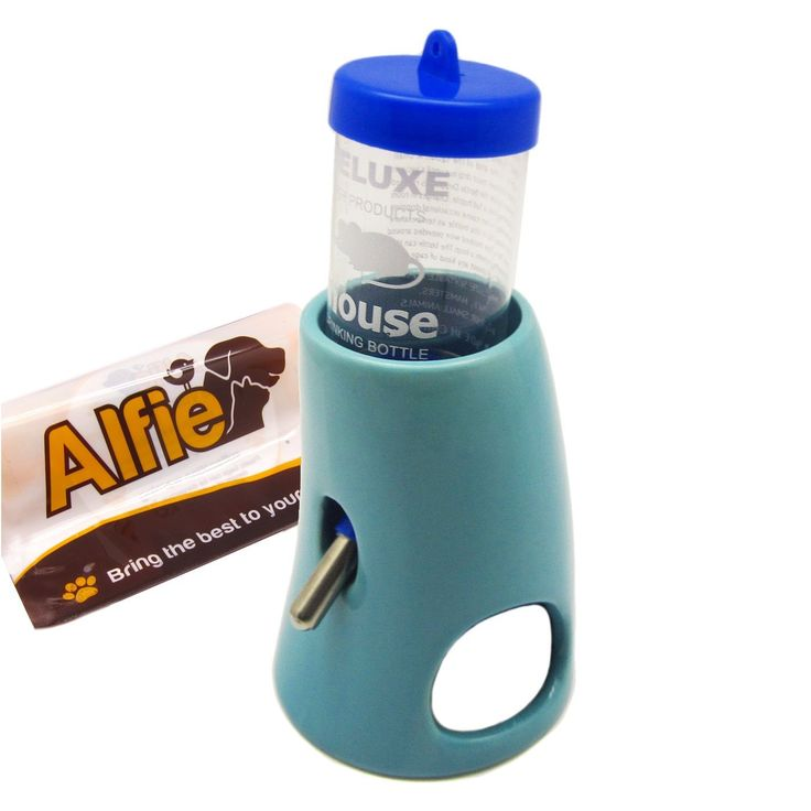 Alfie Pet by Petoga Couture - 2-in-1 Water Bottle with Ceramic Base Hut for Small Animals like Dwarf Hamster and Mouse *** Learn more by visiting the image link. (This is an affiliate link and I receive a commission for the sales)
